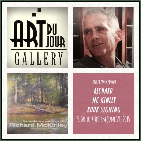 Richard McKinley book signing at Art du Jour Gallery announcement