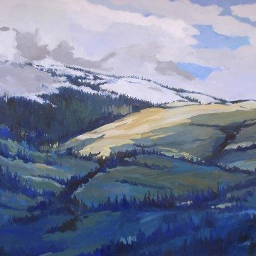 Wolf Country, oil painting by Carla Palmese