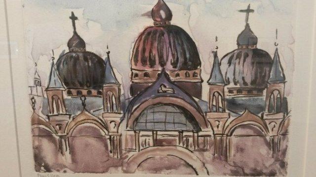 "Artist Teen Mentoring Project 2016 Exhibit: ""Basilica,"" Mono print by Alyssa Summers"