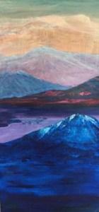 Soul Mountains painting by Nina Bindi