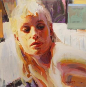 """ashland gallery association august exhibits : """"Aeada 3"""", oil on panel by Gabriel Mark Lipper"""