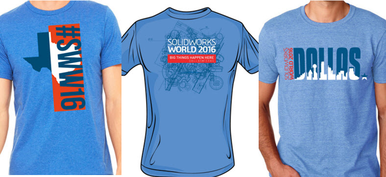 Back by popular demand The SOLIDWORKS World T-shirt Design Contest