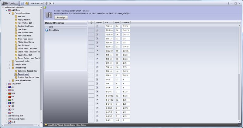 How to Add a Custom Hole Size to the Hole Wizard Database in SolidWorks