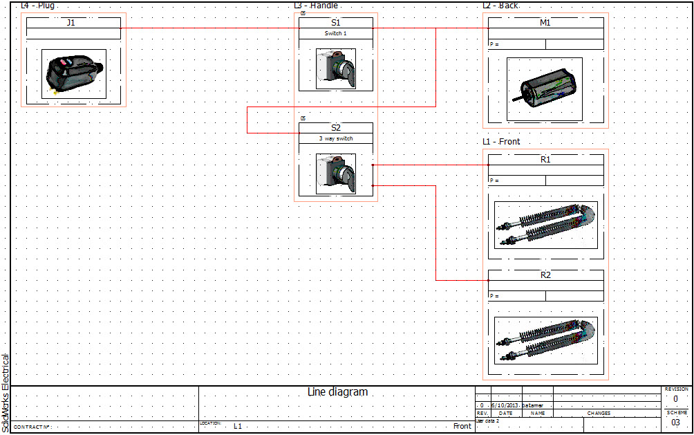 SolidWorks Electrical 2D Line Diagram Drawings  Locations