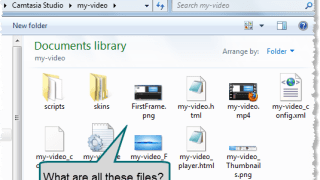 windows explorer showing files