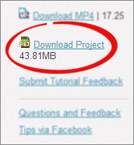 Tutorial Project Files Now Available for Download