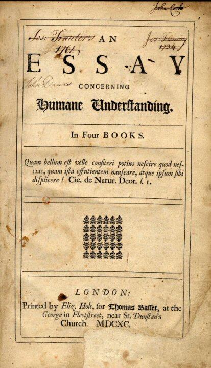 read an essay concerning human understanding