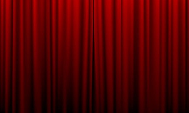 Closed curtain moviezta