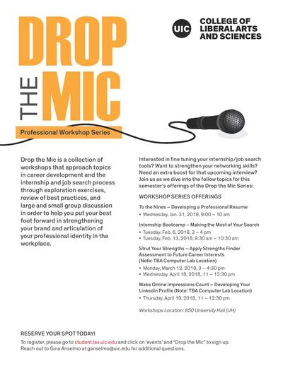 Drop the Mic (Professional Workshop Series) Developing a
