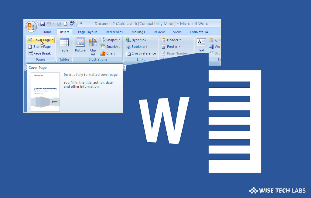How to create custom cover pages in Microsoft Word 2016 - Blog