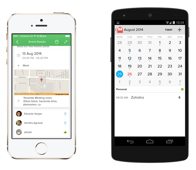 How To Create A Calendar Event New York Philharmonic Event Calendar Unleashed Zoho Mail App For Ios And Android Phones 171; Zoho