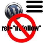 wordpress menu links nofollow