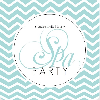 Spa Party Invites - Relax Breathe Rejuvenate - from PurpeTrail - spa invitation
