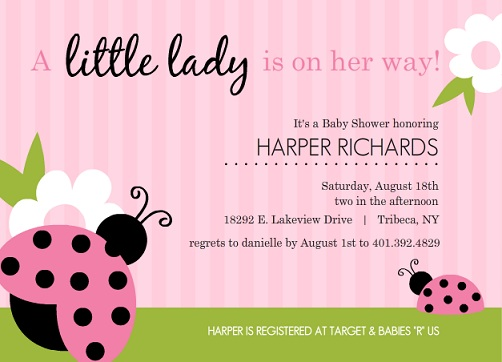 Girl Baby Shower Invitations From Purpletrail