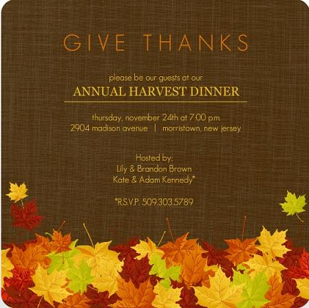 Thanksgiving Invitations by PurpleTrail