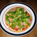 Pan-Fried Pizza: Ham and Green Pepper