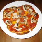 Pan-Fried Pizza: Pepperoni and Mushroom