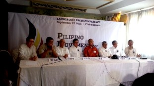 Leaders of different Christian groups during launch of PMTL