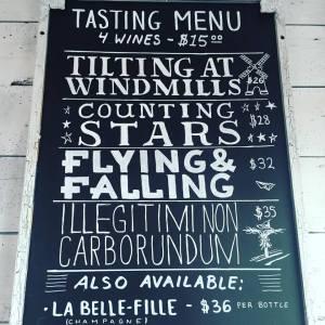 Southold wines on tasting menu