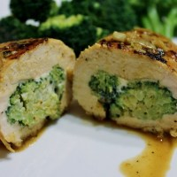 Light Recipe:  Easy Cheesy Broccoli Stuffed Chicken