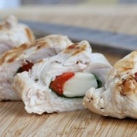Grilled Stuffed Chicken Italiano Recipe #WWStringIt