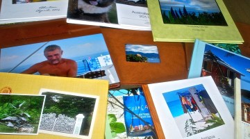 Photo books from trips we've taken