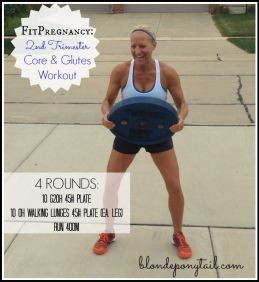 Second trimester core & glutes workout