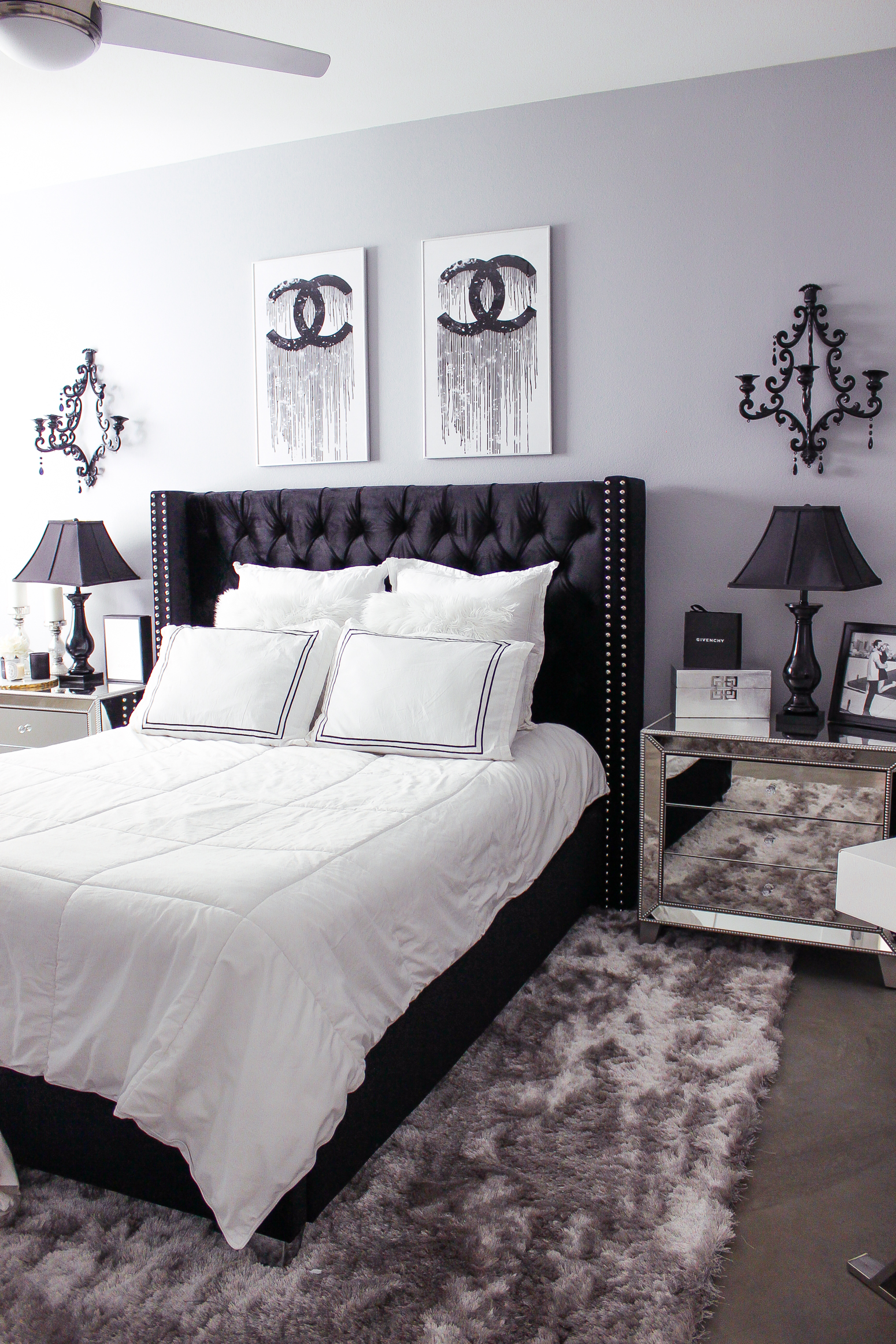 All Black Bedroom Glam Room Decor Home Decorating Ideas