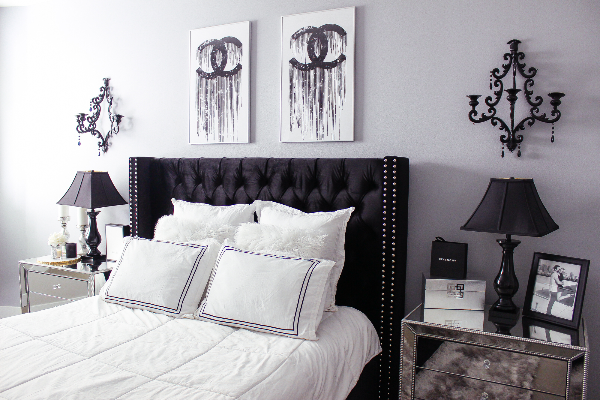 All Black Bedroom Black And White Bedroom Decor Reveal