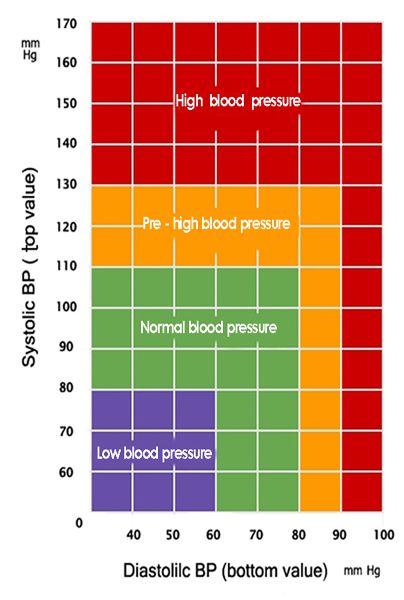 Blood Pressure Charts - Blood Pressure Monitoring