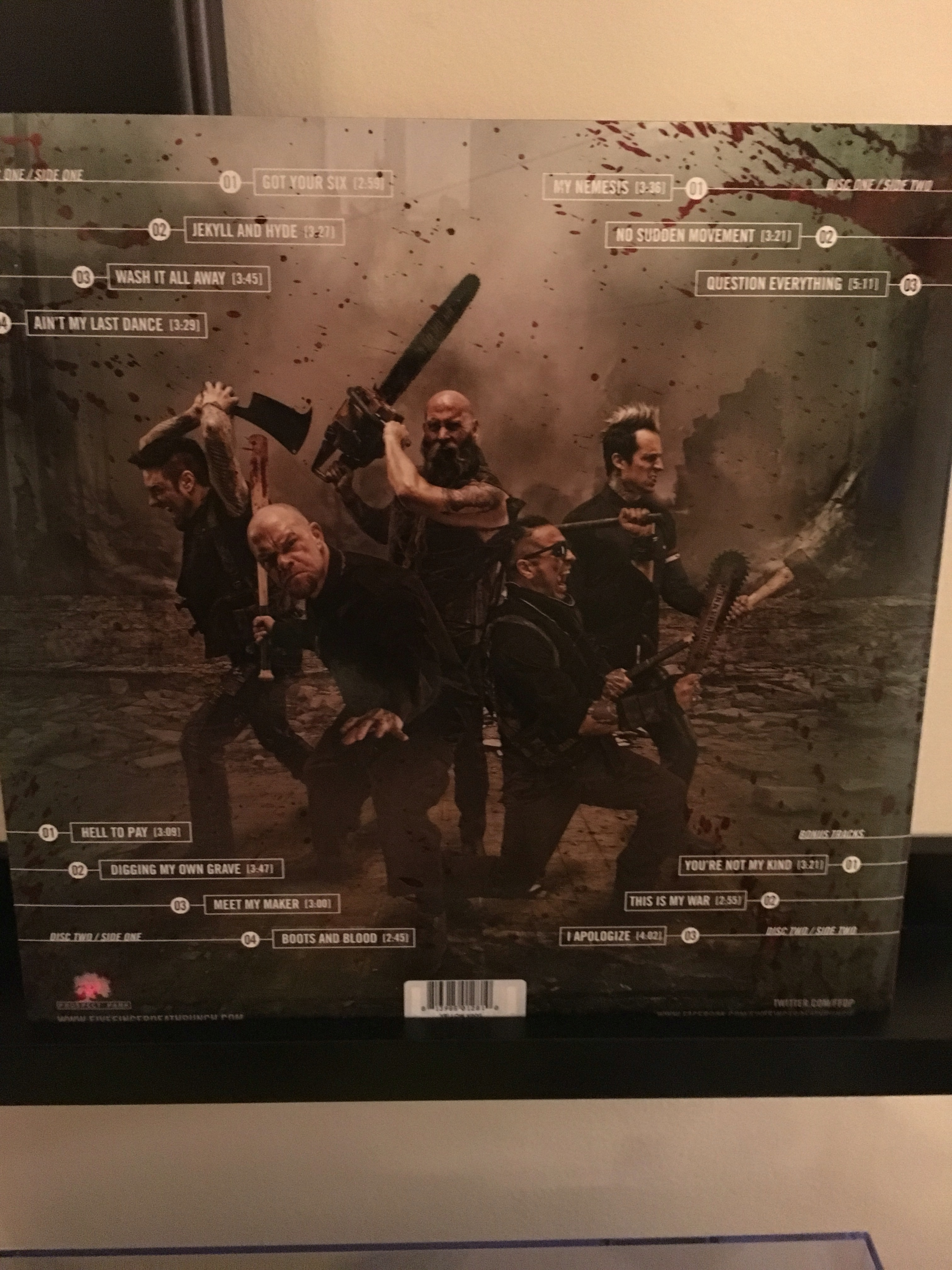 Garage Vinyl Do Songs Have Deep Do Y Make You Question Meaning Will Y Be Looked At Years From Now As Songs That Changed Course Five Finger Death Punch Got Your Six Blood bark post Got Your Six