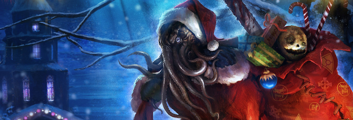 HP Lovecraft Art: Lovecraftian xmas scenes