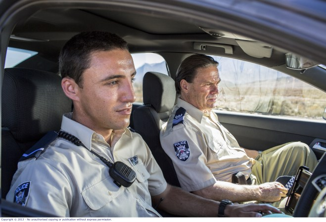 WolfCreek2_Ben Gerrard and Shane Connor as local policeman