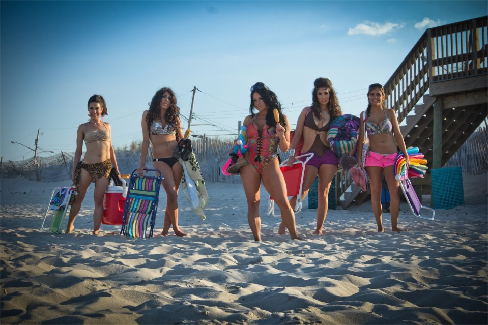 used girls on beach