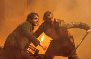 James McAvoy and Daniel Radcliffe in Victor Frankenstein, image via Alex Bailey
