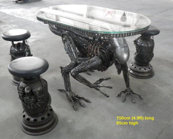 Check Out This Unbelievable 39 Alien 39 Furniture Made From Scrap Metal Bloody Disgusting