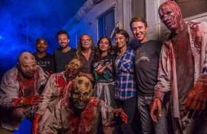 Walking Dead Cast visiting the Walking Dead house at Halloween Horror Nights  HHN26 at Universal Studios Florida USF