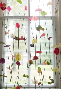 Decorate Curtains With Flowers