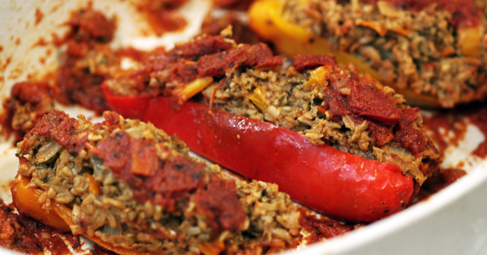 Freekah Stuffed Peppers