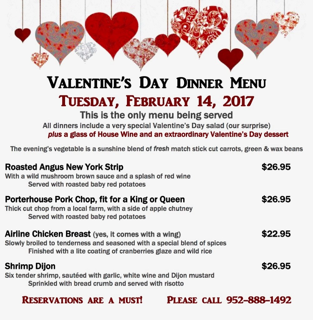 valentine 39 s day dinner special bloomington event center