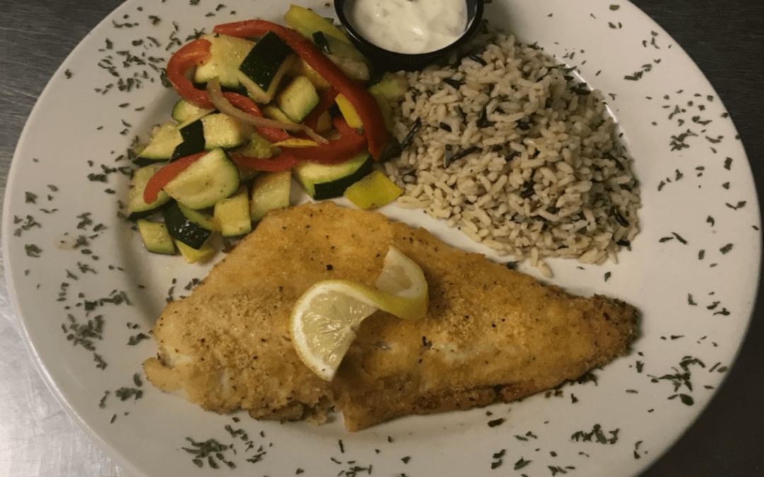 December Fish Special – Ritz Cracker Crusted Canadian Walleye