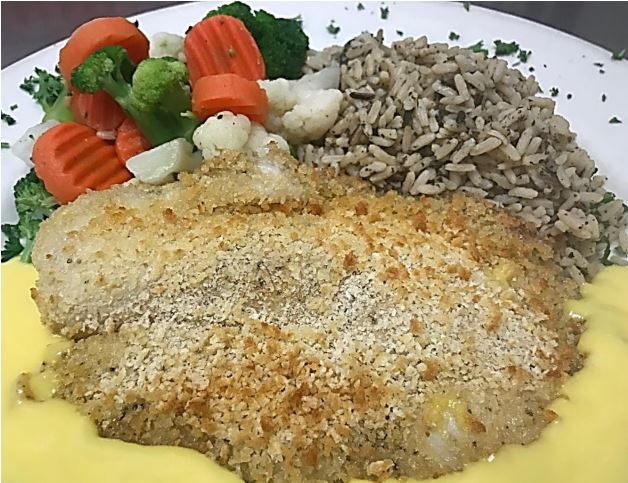 June Seafood Special – Oven-Roasted Panko Crusted Tilapia