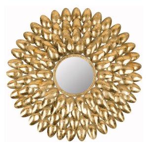 Safavieh Royal Leaf Sunburst Wall Mirror $90.20 Hayneedle