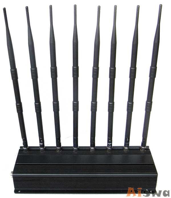Profissional 8 antenas Refrigerado de Bloqueador de UHF VHF Celular GSM-GPS-3G-UHF-VHF-Lojack 1
