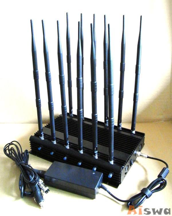 Bloqueador Desktop Alto desempenho 12 Antenas Lojack +GPS+Cellular+WiFi e super ventilado