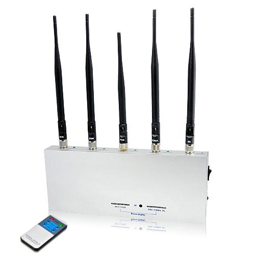 Bloqueador de señales de 5 antenas