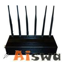 Inhibidor 6 antenas GSM 3G 4G regulable Potencia 12W
