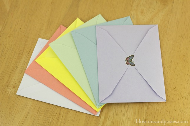 Make Your Own Envelopes {free template} - blossomsandposies