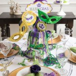 Mardi Gras Tablescapes and Decor with Free Printables and DIY Tutorials