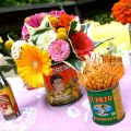 Cinco de mayo tin can centerpieces